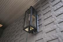 アンティークなガス灯風ランプ