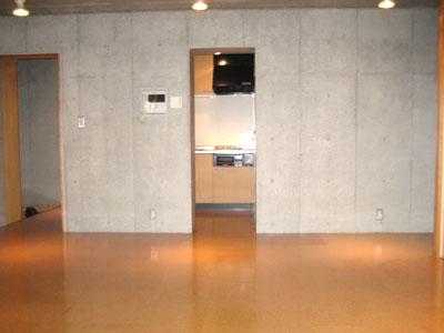 ウッド+コンクリート壁