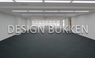 室内スペース: OAフロア装備の採光に優れた空間